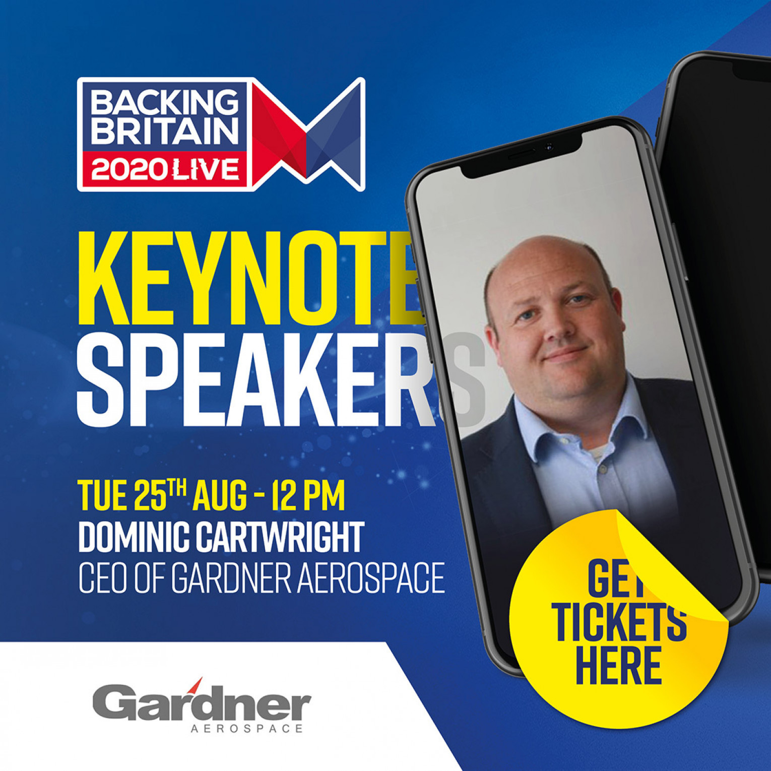 Keynote speaker - Dominic Cartwright CEO of Gardner Aerospace