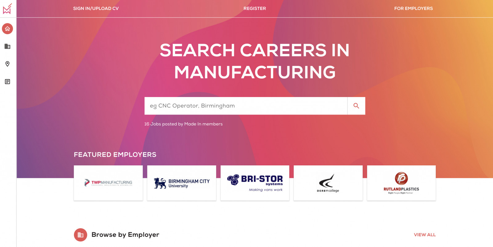 A Brand New Website for British Industry to Recruit Skilled Employees