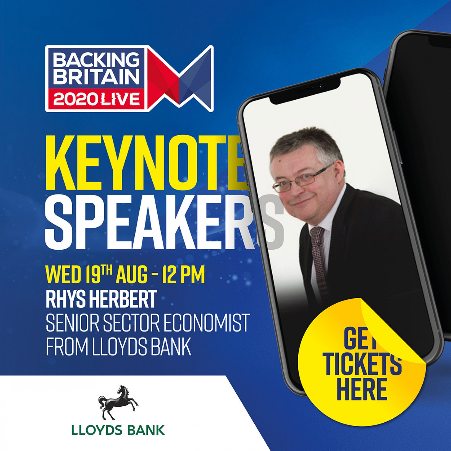 Keynote speaker - Rhys Herbert Senior Sector Economist for Lloyds Bank