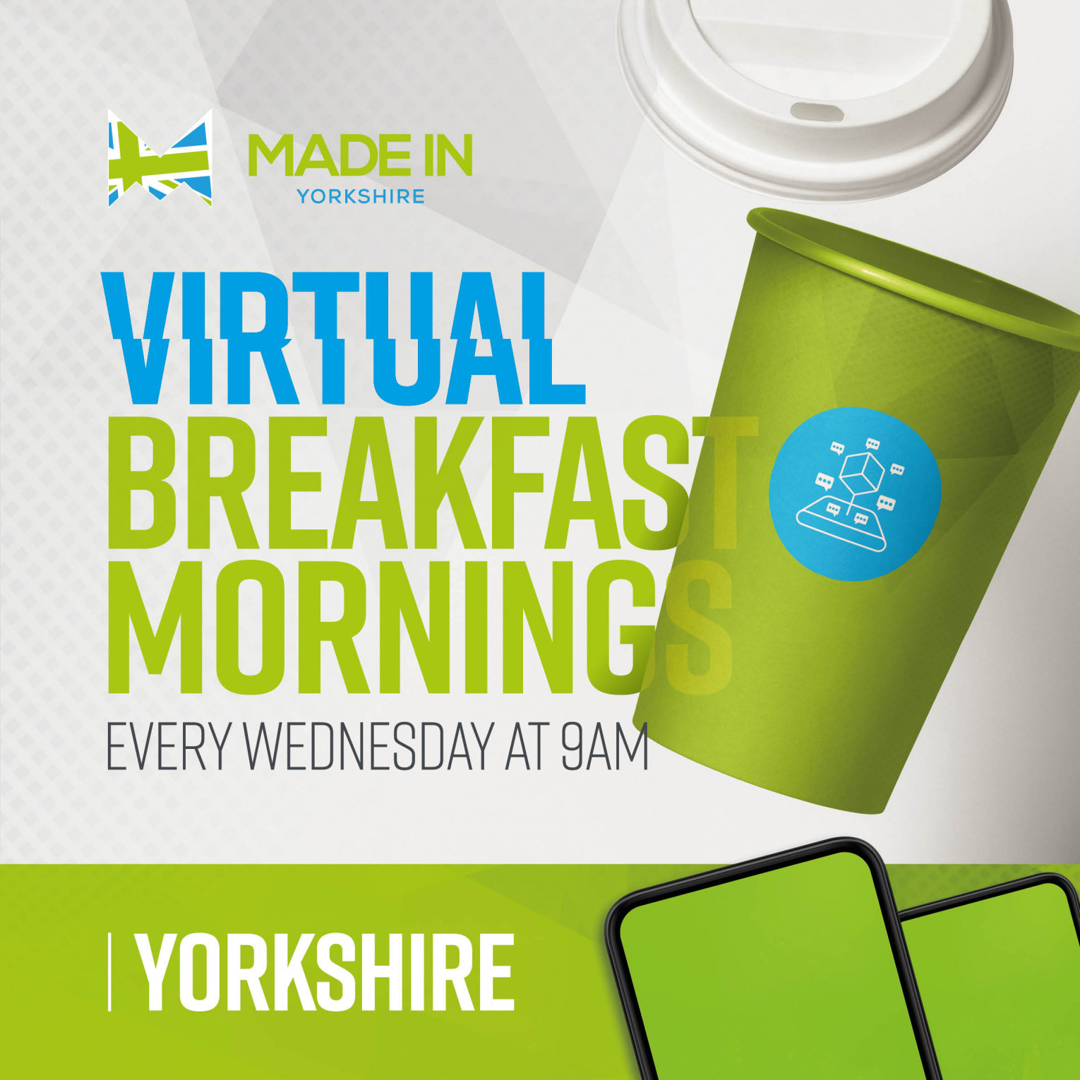 Made in Group Virtual Breakfast Morning Networking event with Hayley Group