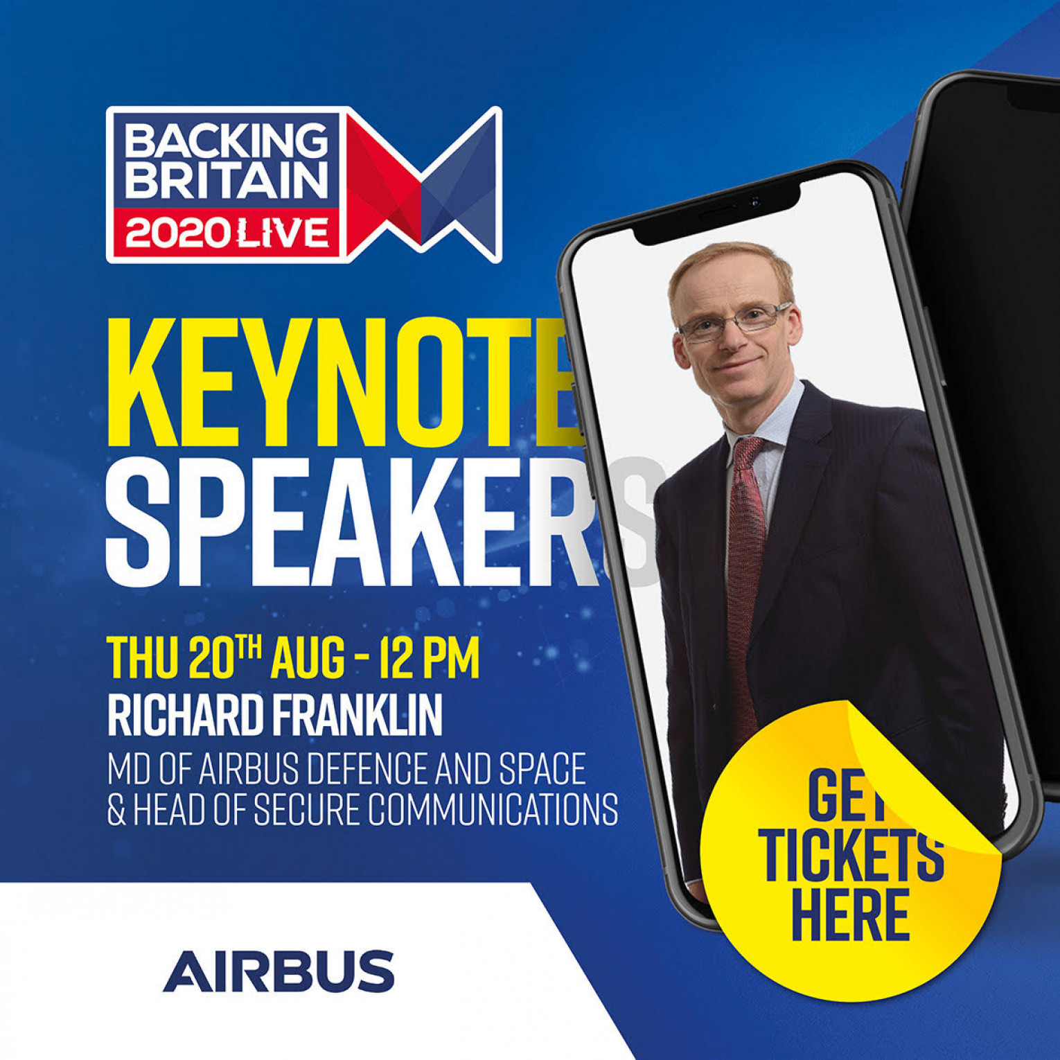 Keynote speaker - Richard Franklin UK MD of Airbus Defence and Space & Head of Secure Communications