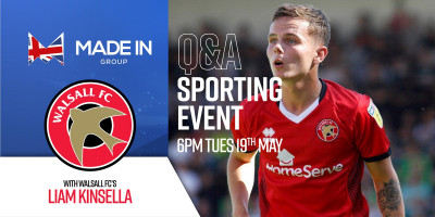 Live sporting evening with Liam Kinsella, Walsall FC