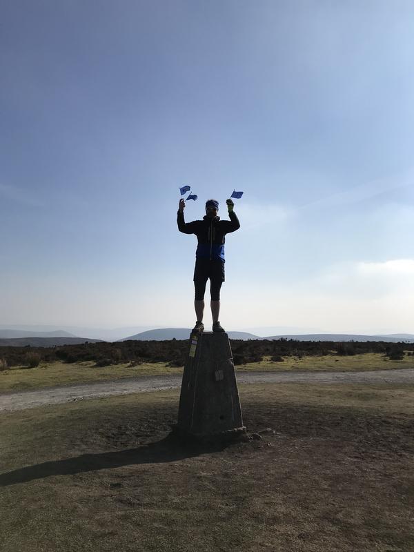 James on top of Pole Bank